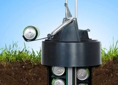 Keep your beverages cool while saving electricity by storing them underground with this inventive cooler.