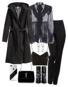 """""""Untitled #4697"""" by theeuropeancloset ❤ liked on Polyvore featuring By Malene Birger, Zimmermann, H&M, Topshop, Balenciaga, Yves Saint Laurent and MANGO"""