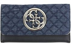 New Trending Purses: Guess Womens G Lux Denim Slim Clutch Tri-Fold Wallet. Guess Women's G Lux Denim Slim Clutch Tri-Fold Wallet   Special Offer: $40.00      377 Reviews Through their innovative designs, marketing and distribution of fashion lifestyle products, GUESS has become one of the most widely recognized fashion leaders in the young contemporary...