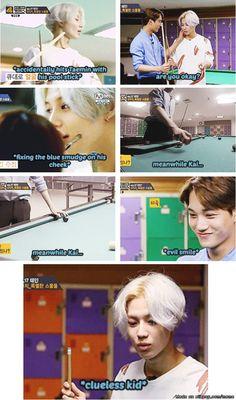Kai tricking Taemin in their game~ ^^   allkpop Meme Center