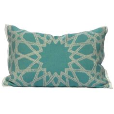 SOHIL I 'Rabat' jacquard pillow with islamic pattern from our Indoor/Outdoor collection I www.sohildesign.com