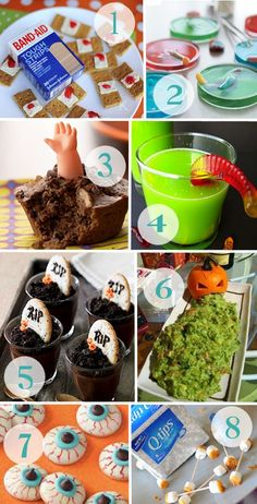 "Kid Friendly Halloween Treats  >> I have to find my ""Gross-Out"" Cookbook, I have made #8 as a school class activity and used baby diapers -- Too much fun!!"