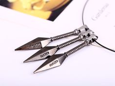 Naruto Metal Kunai Anime Necklace