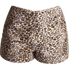 30% OFF SALE 1980s-1990s Vintage Leopard Print Hot Pants High-Waist... (74 PLN) ❤ liked on Polyvore featuring shorts, bottoms, high waisted hot pants, high waisted shorts, micro shorts, sexy short shorts and 80s short shorts