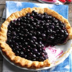 Cape Cod Blueberry Pie Recipe -We Northeasterners have been baking this pie since the 18th century. Settlers would've used little wild blueberries and topped it with cream. I do, too. —Nancy OConnell, Biddeford, Maine