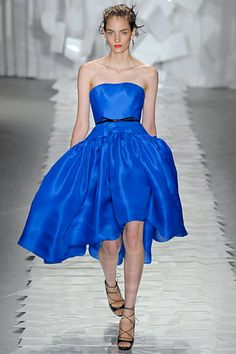 LBD (little blue dress). Jason Wu Spring 2012