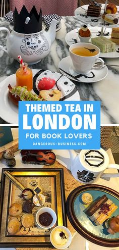If you explore London do NOT forget to have a uniquely themed afternoon tea at these downtown locations in London, England! An amazing foodie experience for the travel foodie lover and book lover! Try this tea and scrumptious treats with a moving view or take your afternoon tea with the kids while enjoying a lesson in history and science! No matter what tea you decide is right for you you'll have a fantastic time! These book-themed teas are really fun! London Shopping, London Travel, Themed Afternoon Tea London, London Look, Things To Do In London, Foodie Travel, Book Lovers, Treats, London England