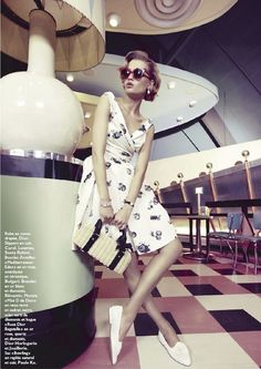 """Thedustyburrito- The Terrier and Lobster: """"Happy Days"""": Laura Blokhina by Marc Philbert for Grazia France"""