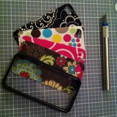 What to do with thirty one swatches. Cover Iphone cases! So doing this when some of the swatches are discontinued!