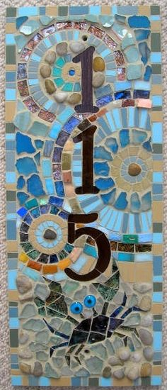 Mosaic house number.... love it... lol...