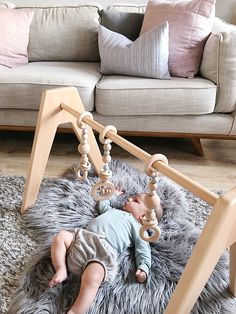 Modern Monty play gym   So stylish it will fit seamlessly in your modern living areas. A baby toy you won't have to hide when visitors pop by. Wooden toys are always special, and you will treasure this heirloom piece!
