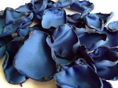 Royal Blue flower petals, rose petals, table decor, flower girl petals, alternative wedding, baby shower decor, bridal shower decor