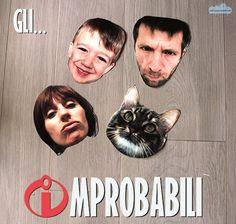 Da maschere di Halloween a supereroi, protagonisti di un giochino in famiglia che ci ha divertito molto: gli Improbabili!