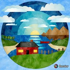 Flag, Country, Logos, Painting, Art, Art Background, Rural Area, Logo, Painting Art