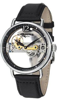 Stuhrling Original 465.33151 - Reloj de pulsera hombre, piel, color negro.