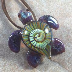 Baby sea turtle necklace glass beads pendant Handmade custom jewelry Lampwork beads Glass flowers Boro beads by RyanJesseeglass on Etsy https://www.etsy.com/listing/232753803/baby-sea-turtle-necklace-glass-beads