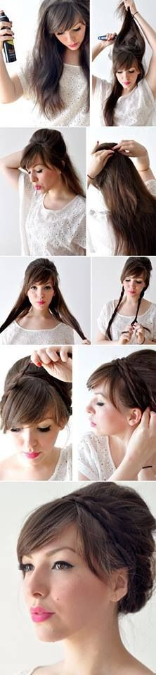 I wish my hair was longer so I could do cute things like this.