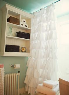 DIY project for a ruffle shower curtain!