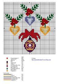 Cross stitch Christmas decoration