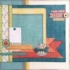 "12x12 Premade Boy or Girl Scrapbook page - ""Dream Big"""