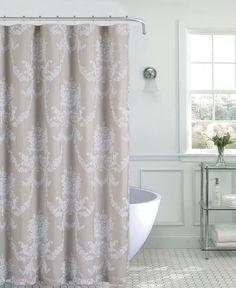 Spa 251 Jolin Floral Fabric Shower Curtain -