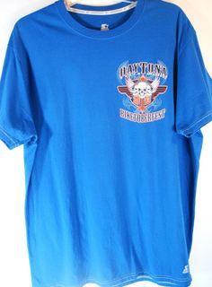 Starter Daytona VTG Biketoberfest Men T-Shirt Size XL Blue 100% Cotton.  PPP 20 #Starter #TeeShirt