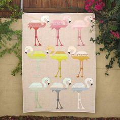 Elizabeth Hartman - Florence Flamingo Quilt   Pattern