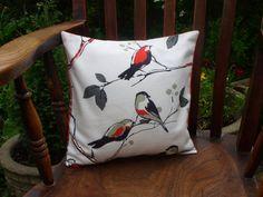 Pretty bird cushion made by me.