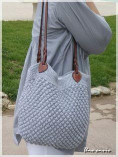 Trinidad - A desire - Knitting 02 Crochet Handbags, Crochet Purses, Crochet Hooks, Crochet Bags, Tunisian Crochet, Knit Crochet, Sewing Online, Net Bag, Coin Bag
