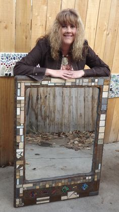 30 x 42 Abstract Mosaic Mirror brown tones by PiecesofhomeMosaics, $720.00 -- I think I could make one cheaper than that........