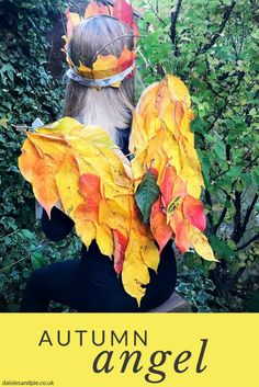 Totally brilliant autumn nature craft for kids, use fallen leaves to create amazing forest fairy wings and leaf crown Kids Nature Crafts Forest School Activities, Autumn Activities For Kids, Fall Crafts For Kids, Nature Activities, Craft Kids, Mindfulness Activities, Craft Activities, Kid Crafts, Outdoor Activities