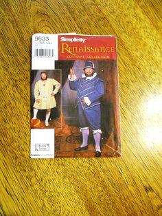 Men's RENAISSANCE Costume Doublet Pants Tights Hat
