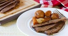 Slow Cookers Beef Brisket with Vegetables: With a little preparation in the morning, this hearty slow cooked meal of brisket and vegetables will be waiting for you in the evening. andlt