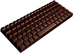 A chocolate keyboard...yes, please!