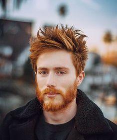 Ginger Men, Ginger Beard, Ginger Hair, Red Beard, Bearded Tattooed Men, Bearded Men, Cool Hairstyles For Men, Haircuts For Men, Beautiful Redhead