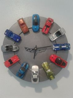 Turn Your Kids Favorite Hot Wheels Into a Cool Clock!