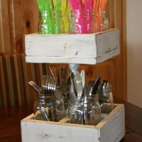 Double Decker Mason Jar Craft Caddy   DIY