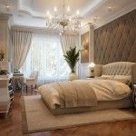 love the headboard & tufted wall