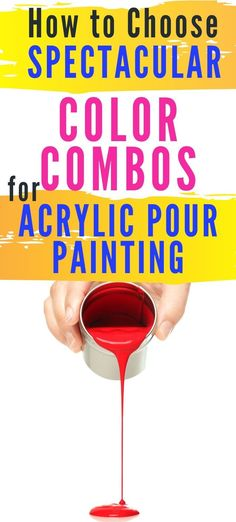 color schemes for acrylic art Acrylic Pouring Techniques, Acrylic Pouring Art, Acrylic Art, Flow Painting, Pour Painting, Painting Tips, Watercolor Painting, Types Of Color Schemes, Color Combos