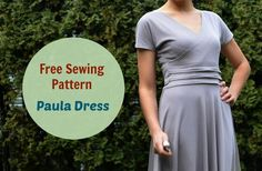 Paula Dress Pattern by designer Daniela Gutierrez-Diaz. This is very pretty but I would make the waistband one piece-I don't like how it is joined at the side seams.