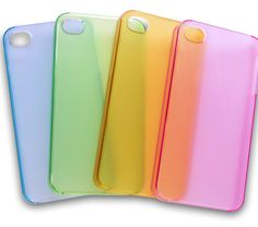 RAINBOW Plain #iPhone 4 Clip-On Hard Back Case Cover CHOOSE COLOUR #Phone #PhoneCase
