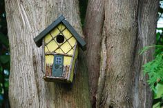 yellow twig birdhouse