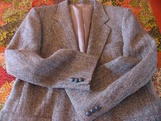 Vintage Man's Harris Tweed Jacket Size 42 Gray by chameleonCMC, $35.00