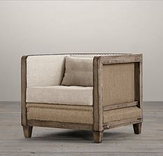 Deconstructed Shelter Arm Chairfrom Restoration Hardware