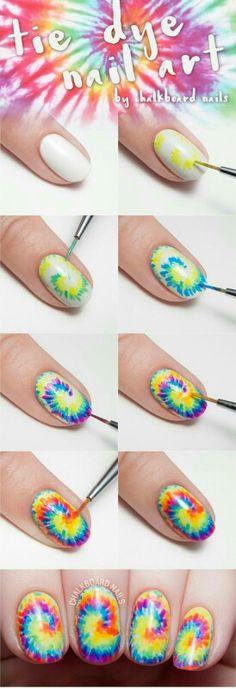 Tye Dye Nail Art Tutorial