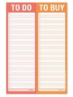 "To Do /To Buy Perforated Chore/Task Checklist Pad-6"" x 9"" Knock Knock http://www.amazon.com/dp/B00HMEJJY0/ref=cm_sw_r_pi_dp_r97.ub0EWM4SK"