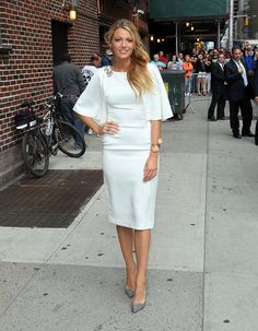 Blake Lively's Marchesa LWD was on the conservative side, but still showed off the actress's curves with it...