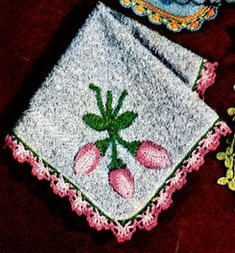Rosebud edging crochet pattern from Money-Makers For Your Bazaar, originally published by Coats