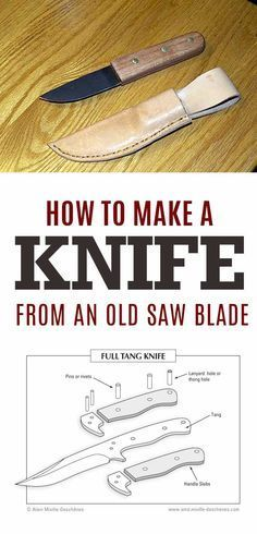 Awesome Crafts for Men and Manly DIY Project Ideas Guys Love - Fun Gifts, Manly Decor, Games and Gear. Tutorials for Creative Projects to Make This Weekend | How to Make a Knife from an Old Saw Blade | http://diyjoy.com/diy-projects-for-men-crafts