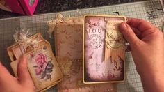 Altered paper bag journal and envelope walk through